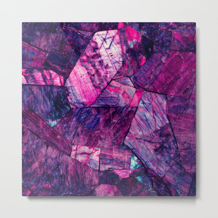 Labradorite Purple Metal Print