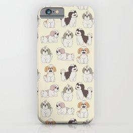 Cute Shih Tzu Dog Pattern iPhone Case