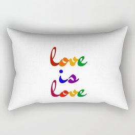 love is love rainbow Rectangular Pillow