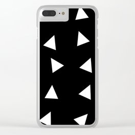 Triangle pattern B1 Clear iPhone Case