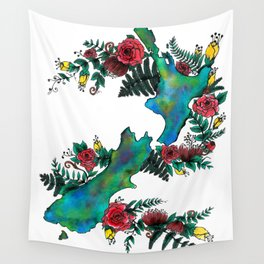 New Zealand Map Wall Tapestry