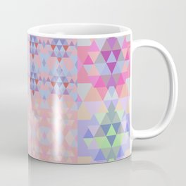 Abstract triangles. Patchwork pattern. Coffee Mug
