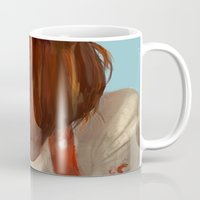 fifth element Mugs featuring leeloo - the fifth element by salem jones
