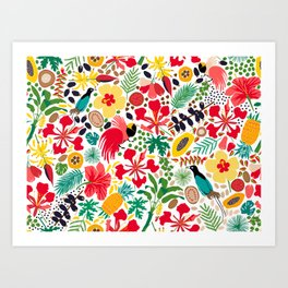 tropical botanical Art Print