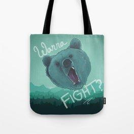 Bear Fight Tote Bag