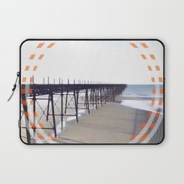 Victorian Pier - orange graphic Laptop Sleeve