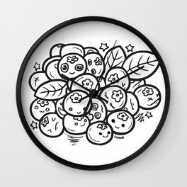 Team Blueberries Wall Clock
