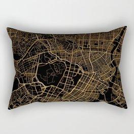 Black and gold Tokyo map Rectangular Pillow