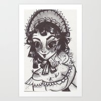 Scarecrow maid Art Print