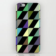 Tilted rectangles pattern iPhone & iPod Skin