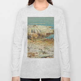 A North East Headland Oil Painting by Childe Hassam Long Sleeve T-shirt