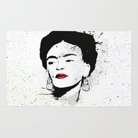 frida Area & Throw Rugs featuring Frida by Cynthia Alvarez