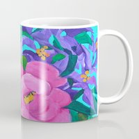 flora Mugs featuring Flora by marlene holdsworth