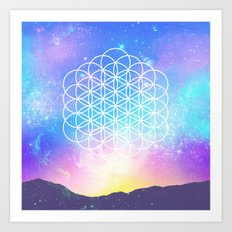 Sacred Geometry (Cosmic Flower) Art Print