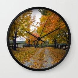 Autumn Driveway Wall Clock