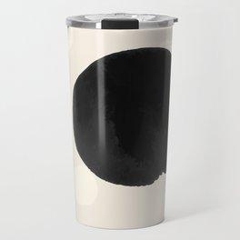 Ink Blots - black Travel Mug