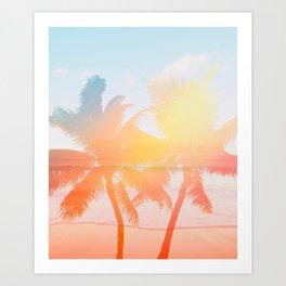 Tropicana seas - sundown Art Print