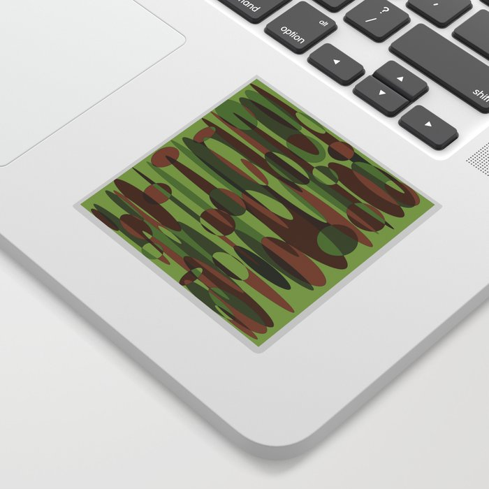 Trendy Green and Brown Camouflage Spheres Sticker