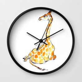 Celebrating World Giraffe Day 2017! Wall Clock