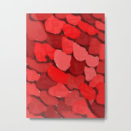 Abstract red blotches Metal Print