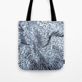 Blue Digital art Abstract Tote Bag