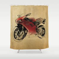 ducati Shower Curtains featuring Ducati 1098 S by Larsson Stevensem