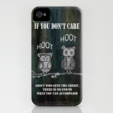 Two Hoots iPhone (4, 4s) Slim Case