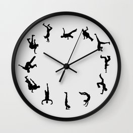 B boy Dance Clock Wall Clock
