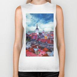 Tallinn art 3 #tallinn #city Biker Tank