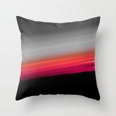 Pink Melon Gray Ombre Throw Pillow