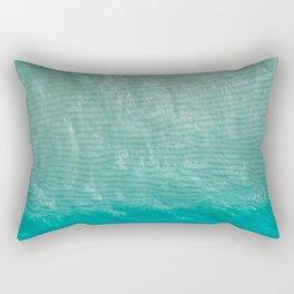 Ocean Top View Photography Rectangular Pillow