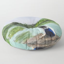 girl and nature Floor Pillow