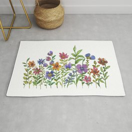 A colorful flower garden Rug