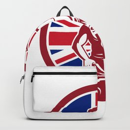 British Blacksmith Union Jack Flag Icon Backpack