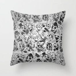 The gang's all here - Five Nights At Freddy's Throw Pillow