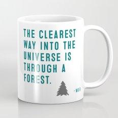 John Muir Nature Quote Print  Mug