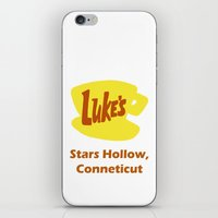 gilmore girls iPhone & iPod Skins featuring Gilmore Girls - Luke's Diner by Hannah