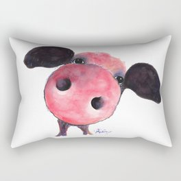 Nosey Pig ' CLARENCE ' by Shirley MacArthur Rectangular Pillow