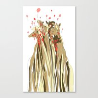tangled Canvas Prints featuring Tangled by Julia Kisselmann