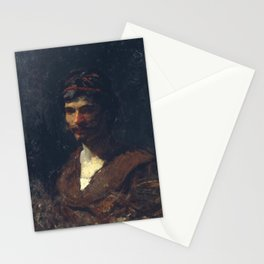 Maria Fortuny - Bust of a Man Allegory of Bacchus Stationery Cards