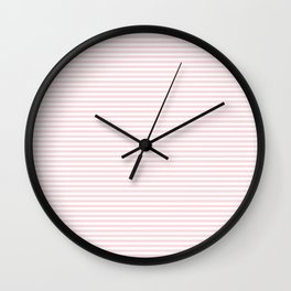 Baby Pink Stripe Wall Clock