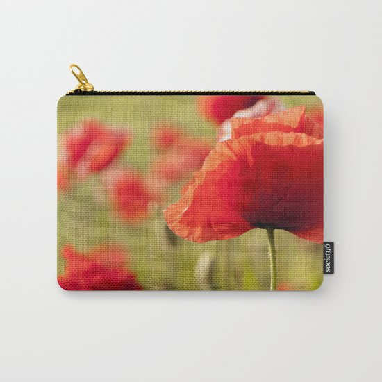 Romantic Poppy field Carry-All Pouch