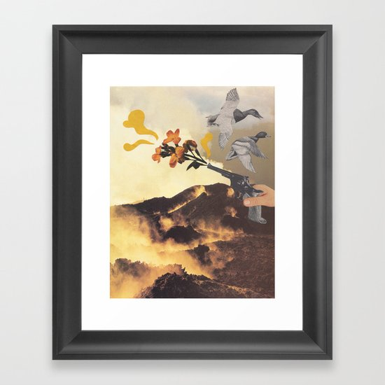 Friendly Fire Framed Art Print