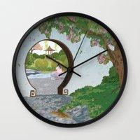 mulan Wall Clocks featuring Mulan by Lesley Vamos
