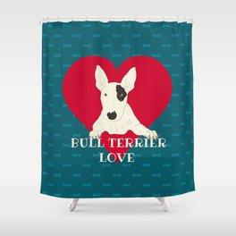 Bull Terrier Love Shower Curtain