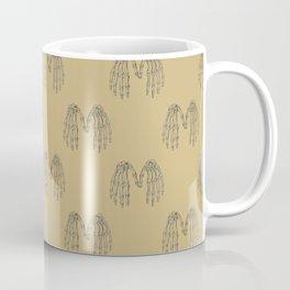Antique Skeleton Hands Pointillism Drawing Coffee Mug