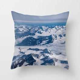 Aerial Glacier Four - Alaska Throw Pillow