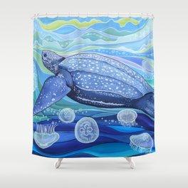 Leatherback Sea Turtle Shower Curtain
