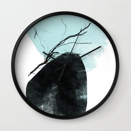 Rooted 1 Mid-Century Monoprint Wall Clock