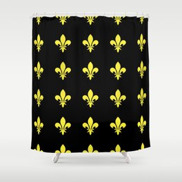 Fleur de lys 4-lis,lily,monarchy,king,queen,monarquia. Shower Curtain